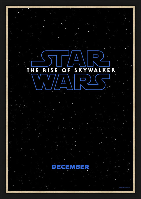 An original teaser movie poster for the Star Wars film The Rise Of Skywalker