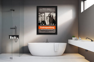 An original movie poster for Danny Boyle's Trainspotting