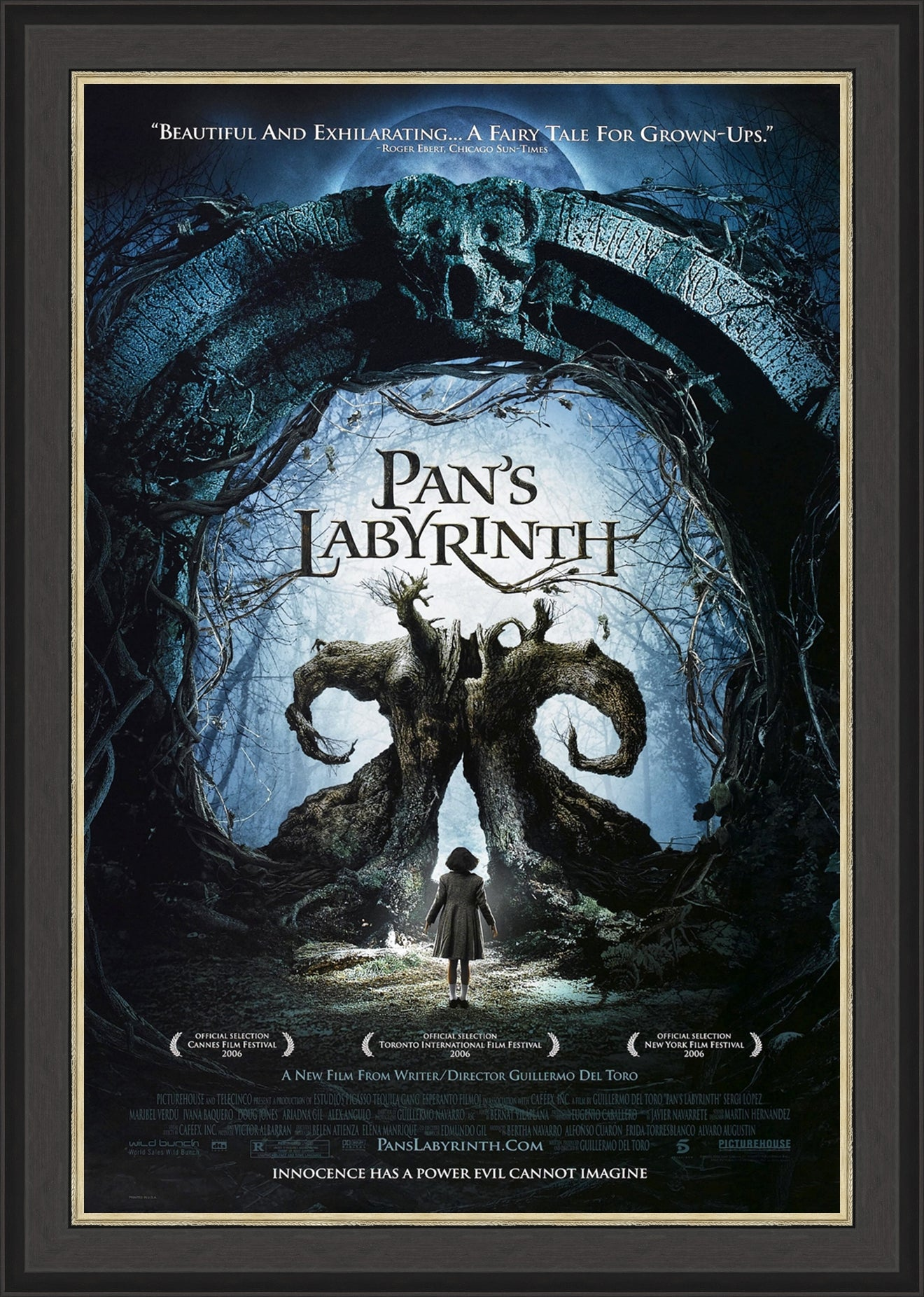 An original movie poster for the film Pan's Labyrinth