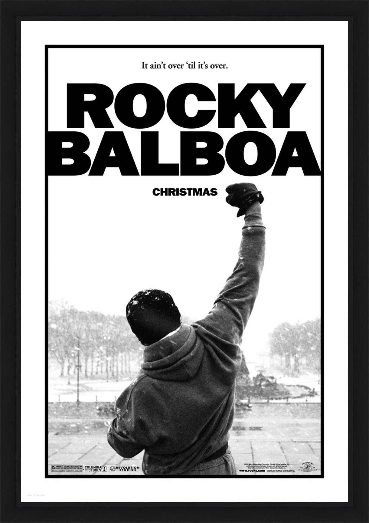 An original movie poster for the Sylvester Stallone film Rocky Balboa