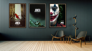 Three original movie posters for the film Joker