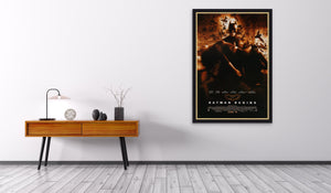 An original movie poster for the film Batman Begins