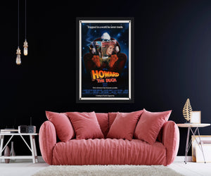 An original movie poster for the Marvel film Howard The Duck