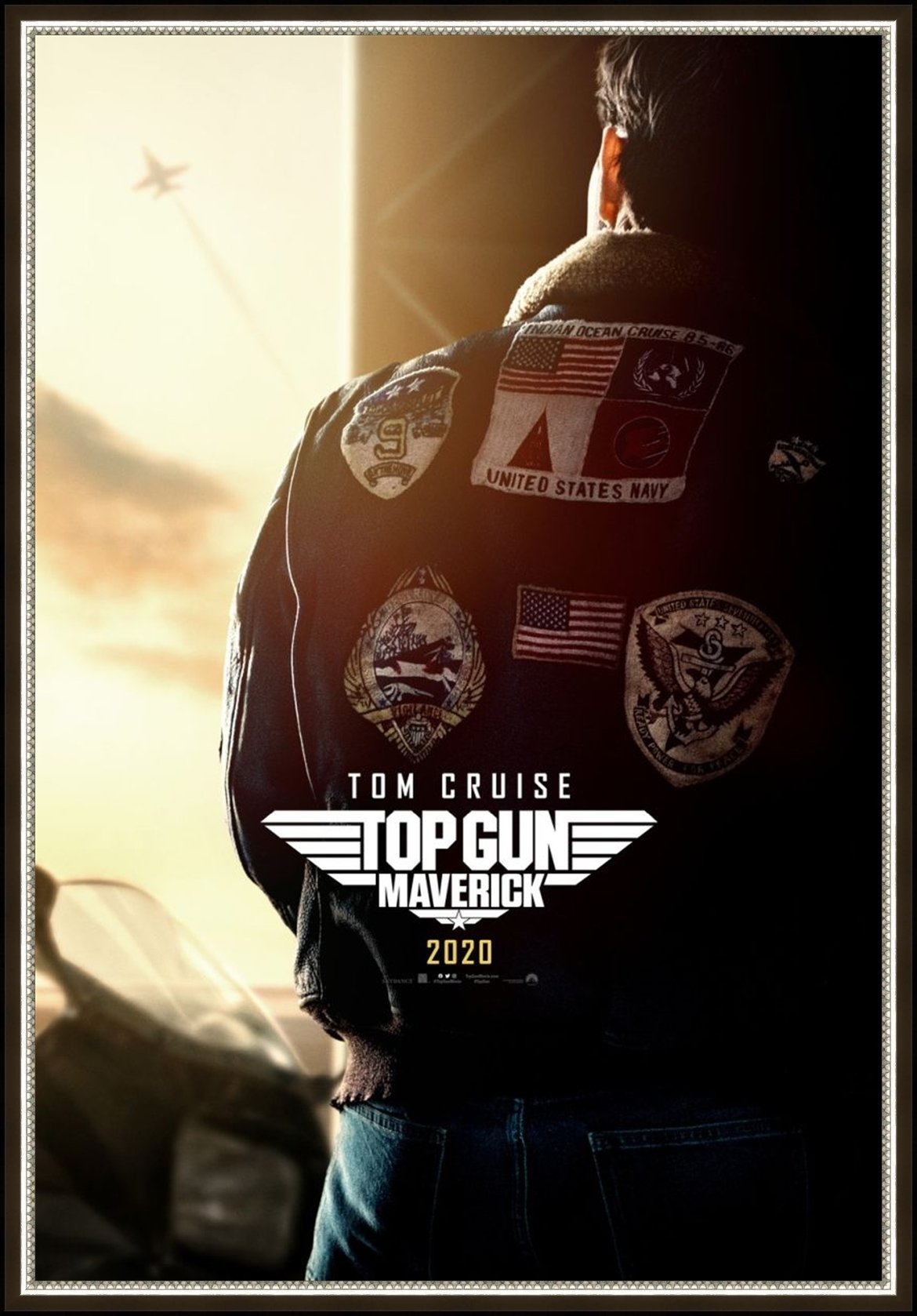 An original movie poster for the film Maverick (Top Gun 2)