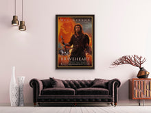 Load image into Gallery viewer, An original movie poster for the film Braveheart with Mel Gibson