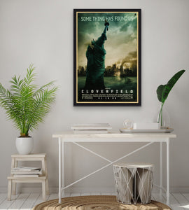 An original movie poster for the film Cloverfield