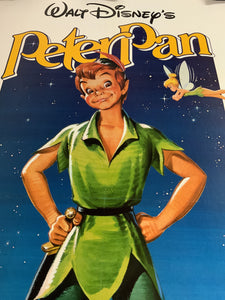 An original movie poster for the Disney film Peter Pan