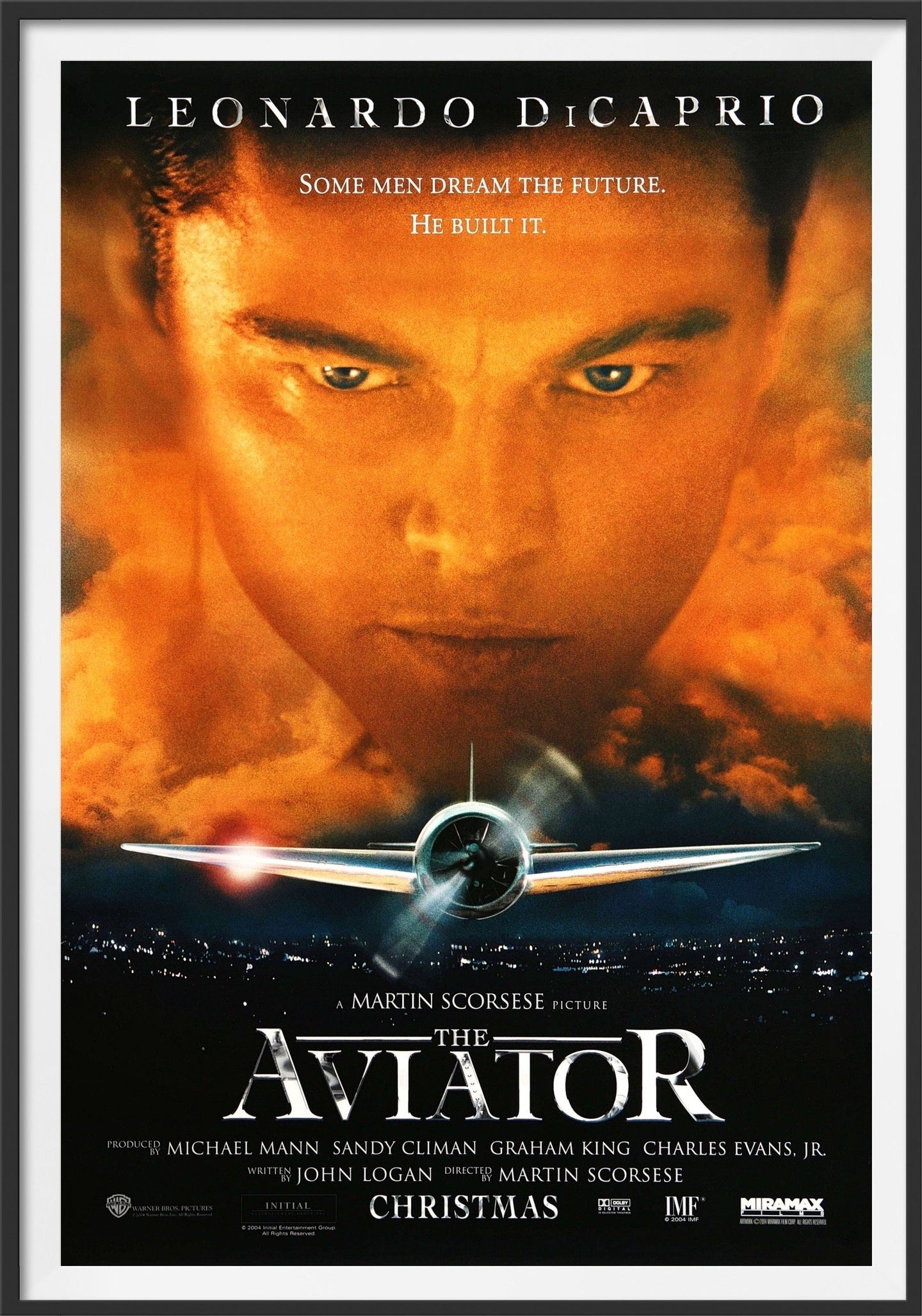 An original movie poster for the Martin Scorsese film The Aviator