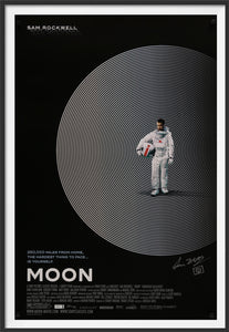 An original movie poster for the Duncan Jones film Moon