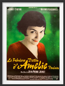 An original movie poster for the film Amelie