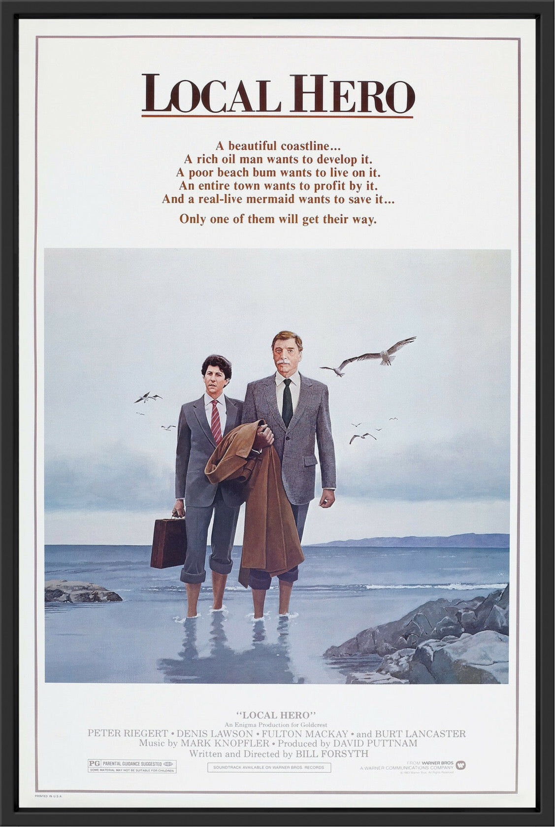 An original movie poster for the film Local Hero
