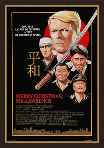 An original movie poster for Merry Christmas Mr Lawrence starring David Bowie