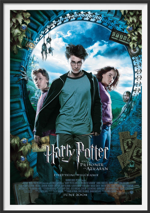 An original movie poster for the film Harry Potter and the Prisoner of Azkaban