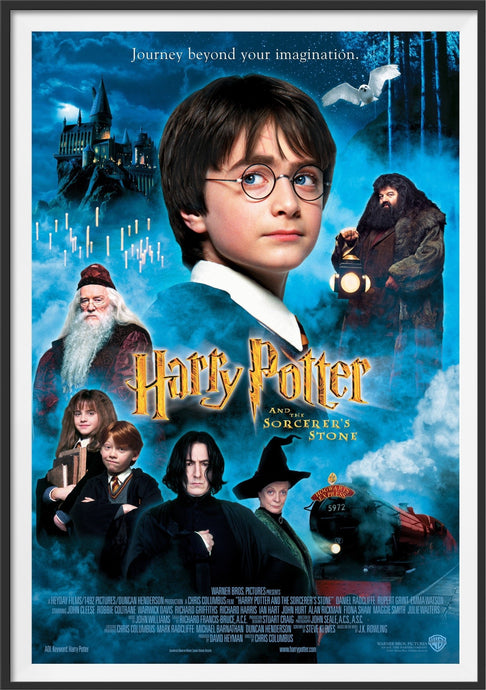 An original movie poster for the Harry Potter film Harry Potter and Sorcerer's Stone