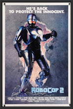 Load image into Gallery viewer, An original movie poster for the film Robocop 2