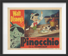 Load image into Gallery viewer, An original lobby card for the Disney film Pinocchio