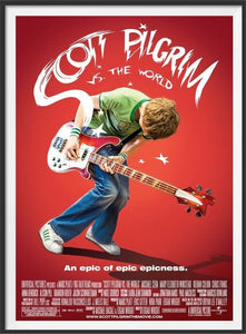 An original movie poster for the film Scott Pilgrim vs The World