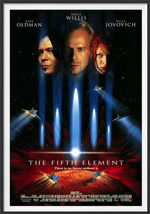 An original movie poster for the film The Fifth Element