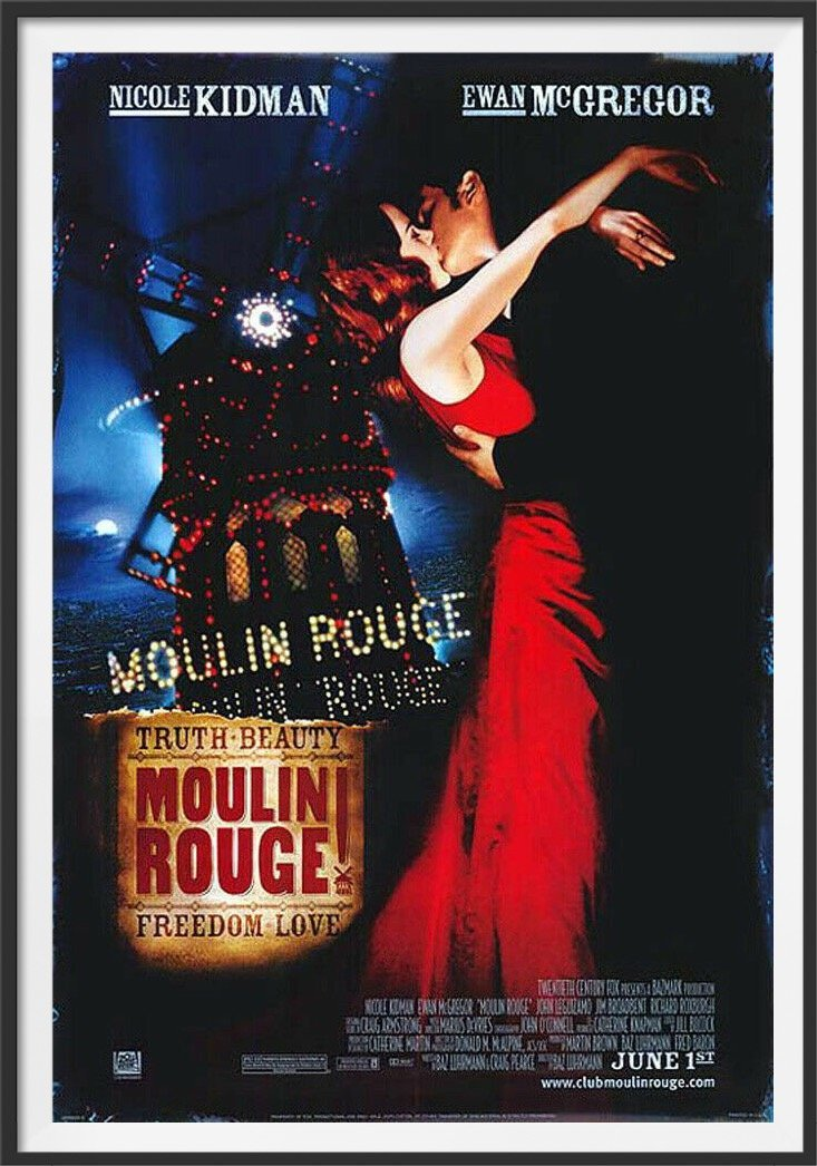 An original movie poster for the film Moulin Rouge