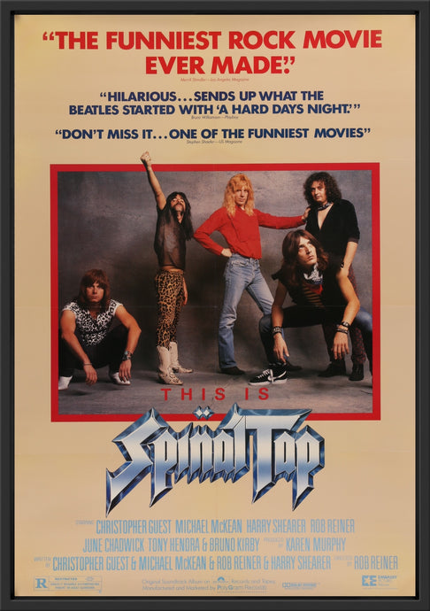 An original movie poster for the film This Is Spinal Tap