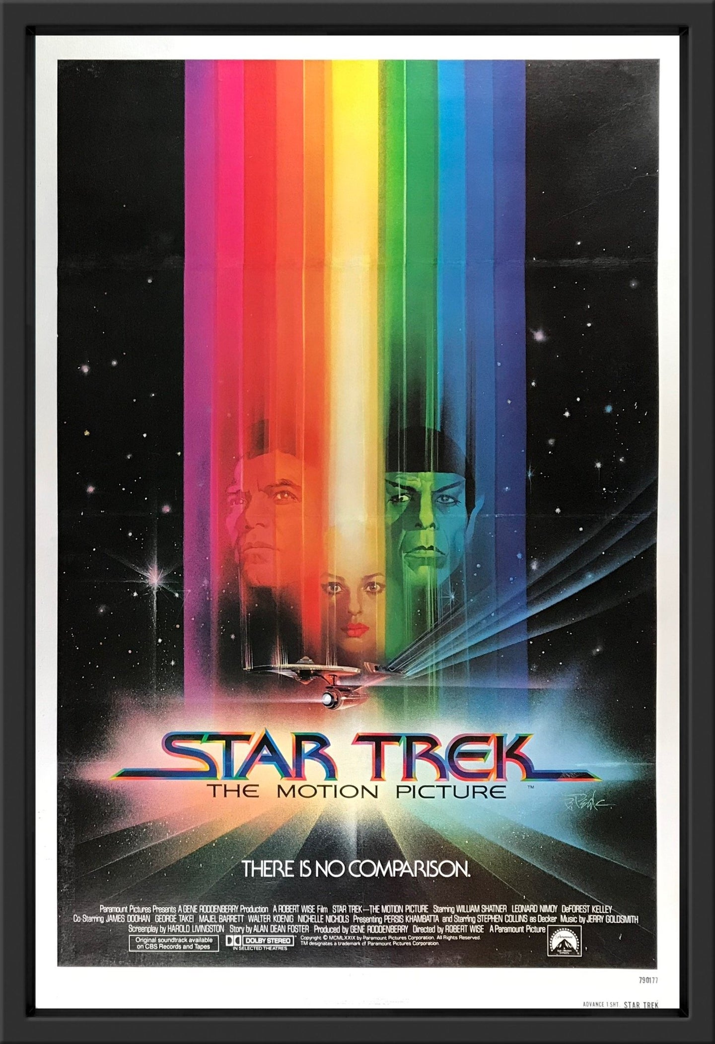 An original movie poster for the film Star Trek The Motion Picture