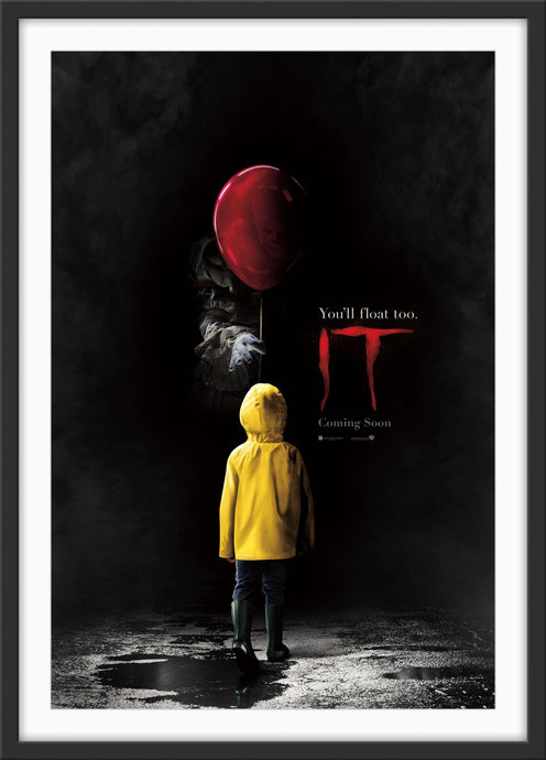 An original movie poster for the horror film IT 2017