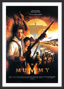 An original movie poster for the 1999 film The Mummy
