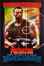 Load image into Gallery viewer, An original movie poster for the Arnold Schwarzenegger film PRedator