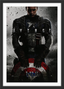 An original movie poster for the Marvel MCU film Captain America The First Avenger
