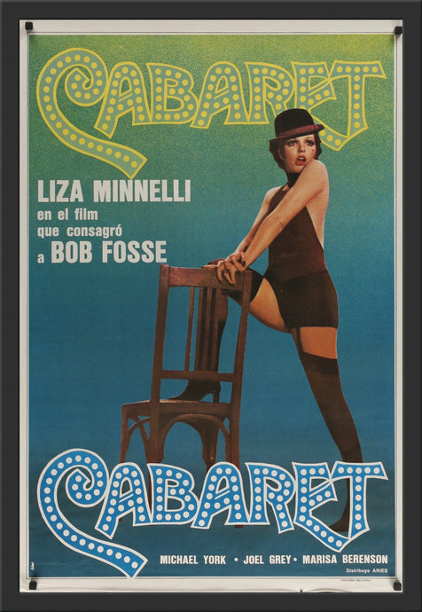 An original movie poster for the Bob Fosse film Cabaret