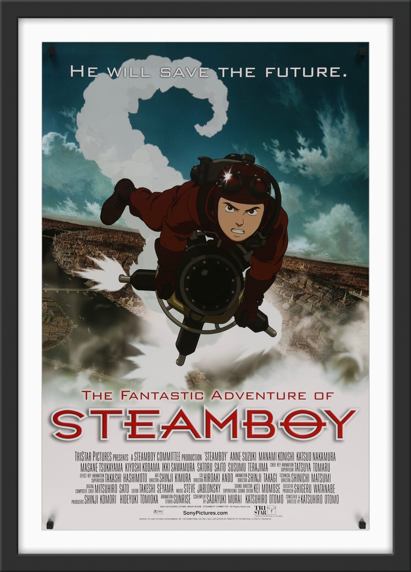 An original movie poster for the animated film Steamboy