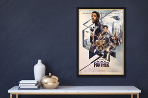 An original movie poster for the Marvel film Black Panther