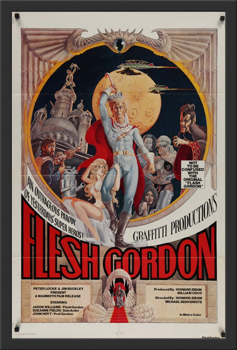 An original movie poster for the film Flesh Gordon