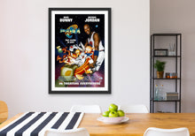 Load image into Gallery viewer, An original movie poster for the Michael Jordan and Bugs Bunny film Space Jam