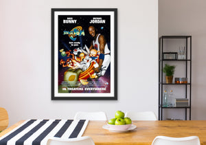 An original movie poster for the Michael Jordan and Bugs Bunny film Space Jam