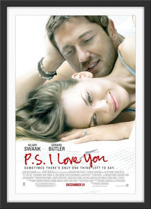 An original movie poster for the film P.S. I Love You