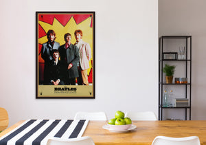 An original Apple licensed poster of the Beatles