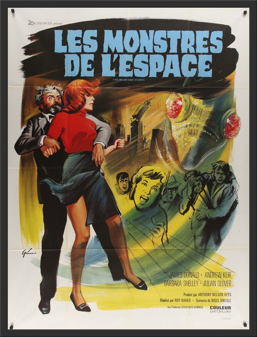 An original French movie poster for the Hammer horror sci-fi Quatermass and the Pit