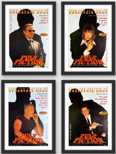 Four British Double Crown movie posters for the Quentin Tarantino film Pulp Fiction