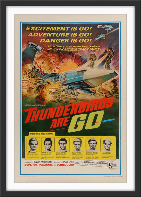 An original movie poster for the Gerry Anderson film Thunderbirds Are Go