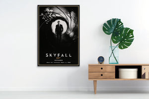 An original movie poster for the James Bond film Skyfall