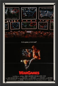 An original movie poster for the film Wargames (War Games)