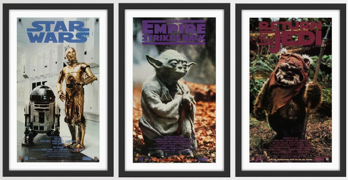 An original set of three Lucasfilm licensed posters for the promotion of the Star Wars Original Trilogy Special Edition