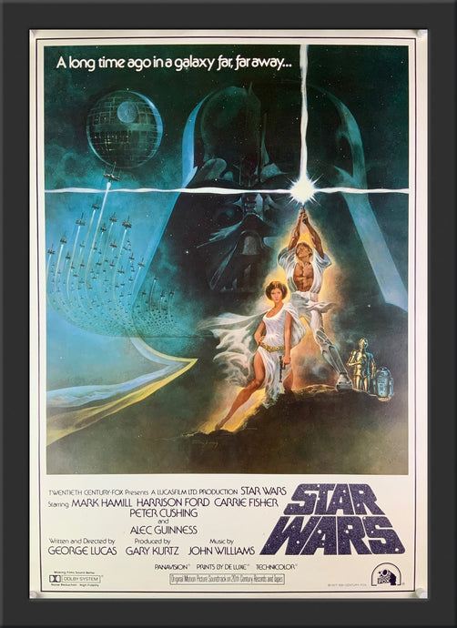 An original Japanese B2 movie poster for the film Star Wars - A New Hope Episode 4
