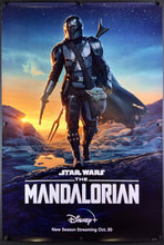 Load image into Gallery viewer, An original movie poster for the Disney+ Star Wars series The Mandalorian