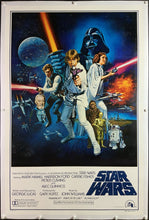 Load image into Gallery viewer, An original Style C movie poster for Star Wars (A New Hope) 1977