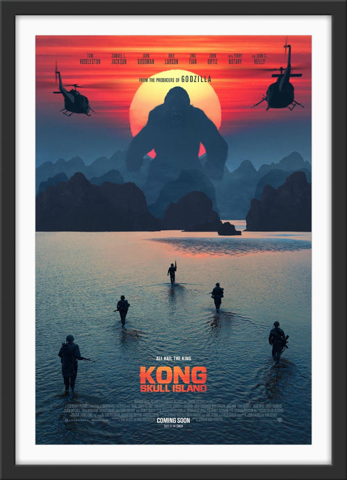 An original movie poster for the film Kong Skull Island