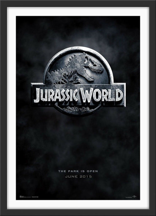 An original movie poster for the film Jurassic World