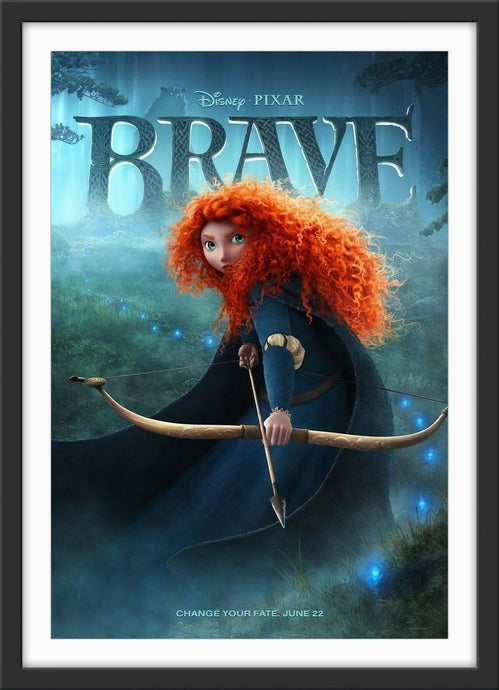 An original movie poster for the Disney Pixar film Brace