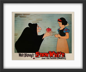 An original lobby card for the Disney movie Snow White and the Seven Dwarfs